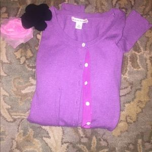 Sweaters - Purple JCrew cardigan